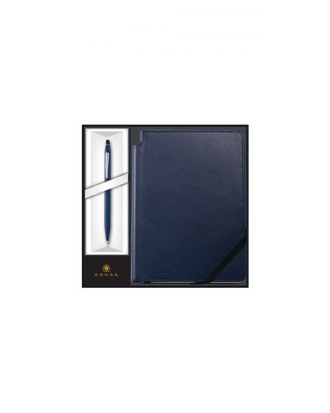 Click Midnight Blue Ballpoint Pen with Midnight Blue Journal Gift Set