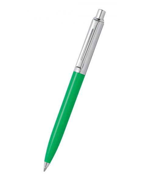 Sheaffer® Sentinel Bright Green Barrel & Brushed Chrome Cap Ballpoint Pen