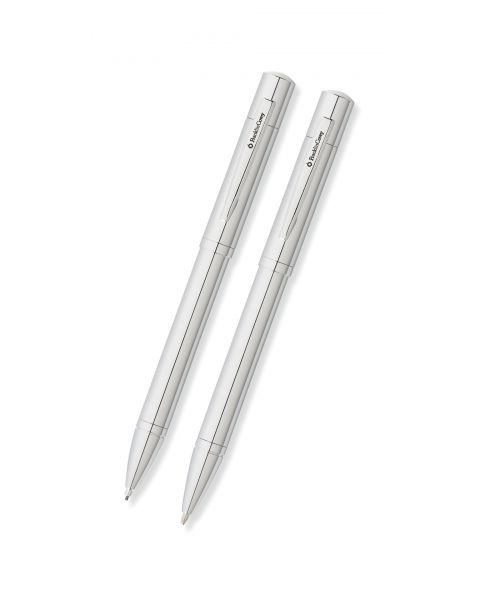 Greenwich Chrome Ballpoint Pen and 0.9mm Pencil Set