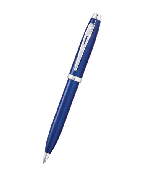 Sheaffer 100 Glossy Blue Lacquer Ballpoint Pen