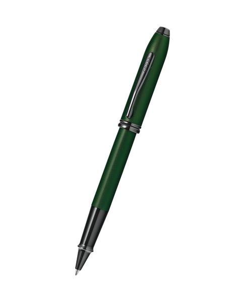Townsend Matte Green PVD Micro-knurl Rollerball Pen