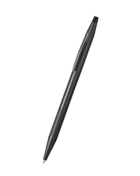 Classic Century Black PVD Ballpoint Pen with Micro-knurl Detail